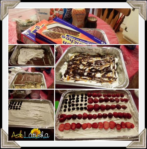 Ice Cream Cake Collage
